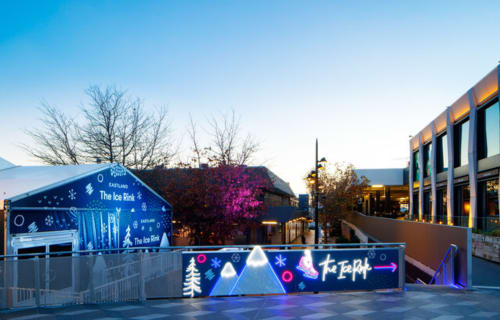 Lighting by Carla O'Brien at Eastland Shopping Centre, Ringwood - Eastland Skating Rink