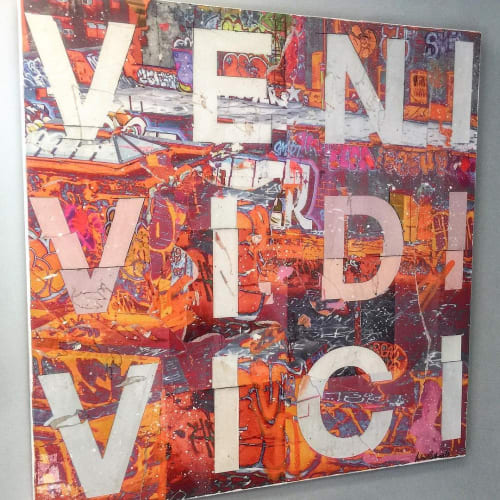 Paintings by Andrew Cotton Art 100% COTTON seen at Private Residence, New York - Veni Vidi Vici