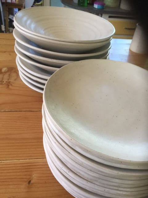 Tableware by Akiko's Pottery seen at Applewood Inn, Guerneville - Handmade Bowls