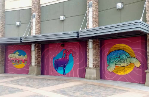 Murals by Nathaniel Benjamin - Prints & Paintings seen at Galaxy Sparks IMAX Luxury+ Theatre, Sparks - Murals