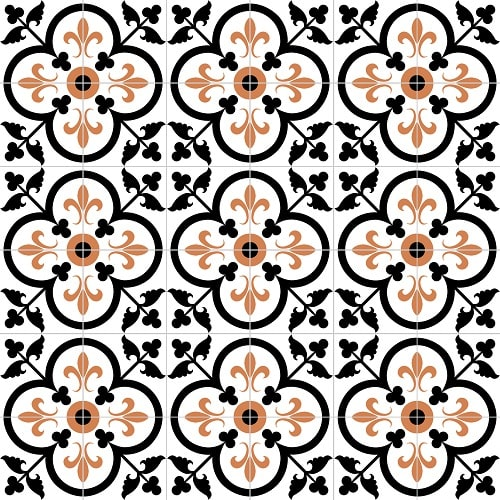 Tiles by Avente Tile seen at The Coronet, Tucson - Fleur-de-Lis Clover Polished Tiles