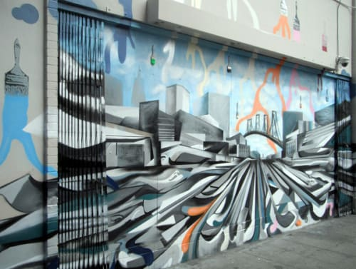Street Murals by Robert D Harris seen at 998 Market Street, San Francisco - Renewed Perspective