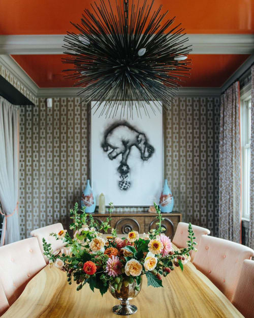 Floral Arrangements by Wallflower Design seen at Private Residence, San Francisco - Peach Dreams