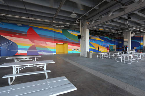 Murals by Momo seen at Hard Rock Stadium, Miami Gardens - Hard Rcok Mural