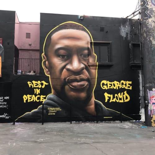 Street Murals by Shane Grammer Arts seen at Los Angeles, Los Angeles - George Floyd Memorial Mural