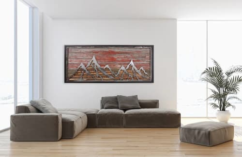 Wall Hangings by Craig Forget seen at Private Residence, La Pine - Mountain Scape Artwork