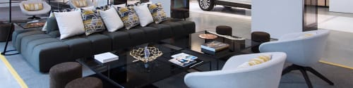 Tables by Phase Design by Reza Feiz seen at Cadillac House, New York - Half & Half Coffee Table