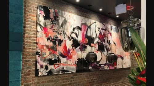 Paintings by Vicky Barranguet seen at Samui, Brooklyn - Flow