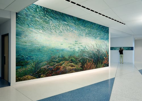 Murals by Dixie Friend Gay seen at Texas A&M University at Galveston, Galveston - Syncopation Sea and Benthic Zone
