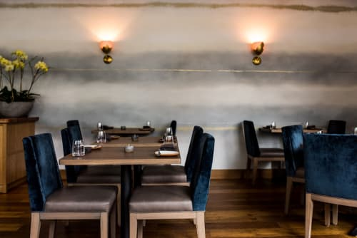Wall Treatments by Caroline Lizarraga at Nightbird, San Francisco - Wall Covering: Fog