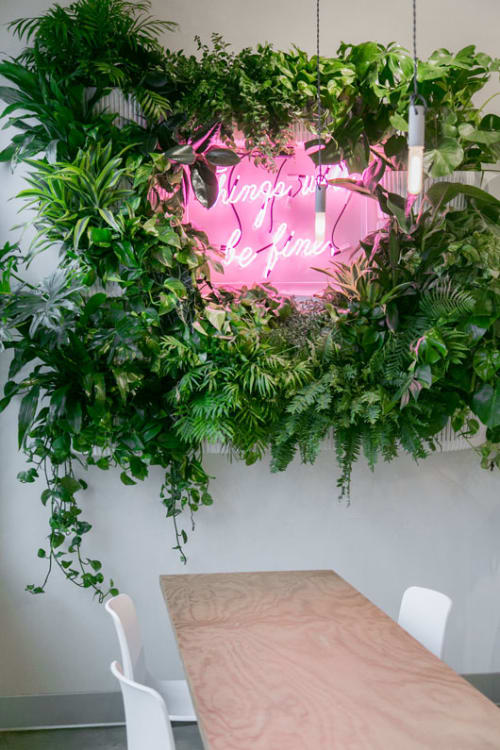 Floral Arrangements by Hello Gem seen at Dinosaur Coffee, Los Angeles - Floral Installation