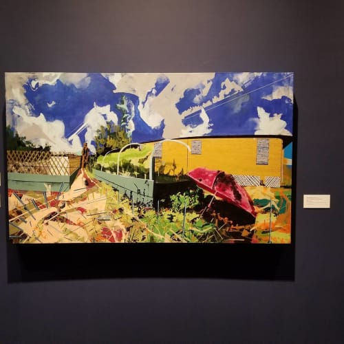 "Paintings by Miro Hoffmann seen at Ogden Museum of Southern Art, New Orleans - ""Crisp Farms Satellite 9th Ward New Orleans"" 2016"