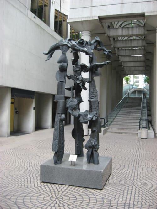 Public Sculptures by Dimitri Hadzi seen at Embarcadero Center, San Francisco - Creazione