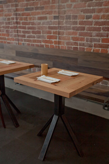 Tables by District Mills seen at Kush, Los Angeles - Tables