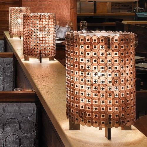Lamps by McEwen Lighting Studio seen at Crush 29, Roseville - Barrel Table