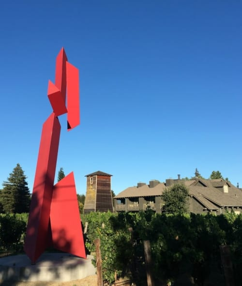 Sculptures by Mac Whitney seen at Senza Hotel, Napa - Zavala