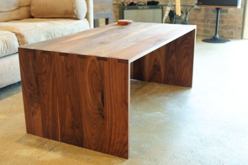 Tables by Michael Leanes Design at Private Residence, Downtown Houston, TX, Houston - Walnut Table