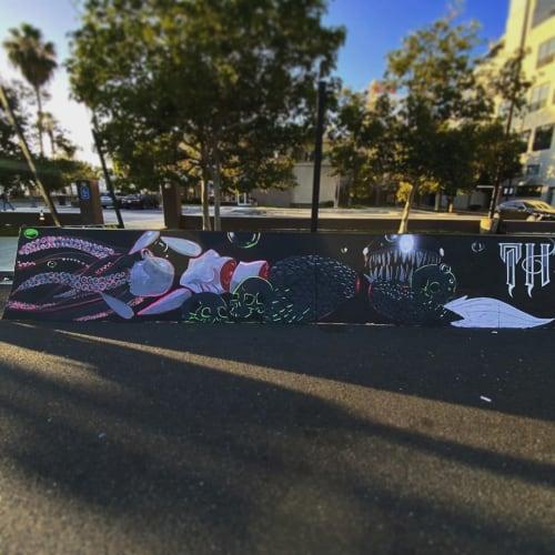 The 4th Horseman Mural   Street Murals by WHOSVLAD   The 4th Horseman in Long Beach