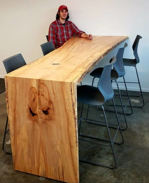 Tables by Roxie Woodworks seen at Crosstown Concourse, Memphis - Spalted Maple Table