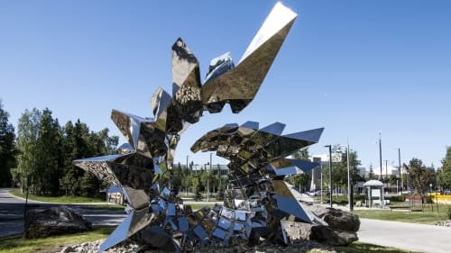 Sculptures by Heath Satow seen at University of Alaska Anchorage, Anchorage - Inflorescence