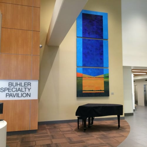 Paintings by Mark Bowles seen at Buhler Specialty Pavilion, Sacramento - Paintings