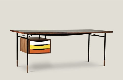 Tables by Finn Juhl seen at The William NYC, New York - Nyhavn Desk