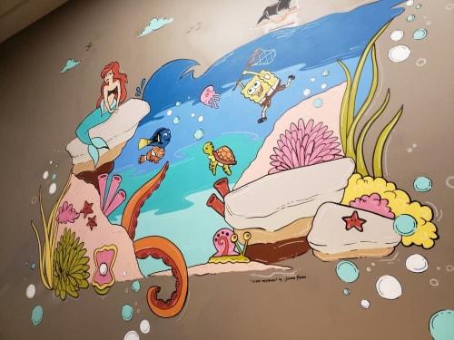 Murals by Jasmin Pannu seen at Maple, Vaughan - Ocean Mural