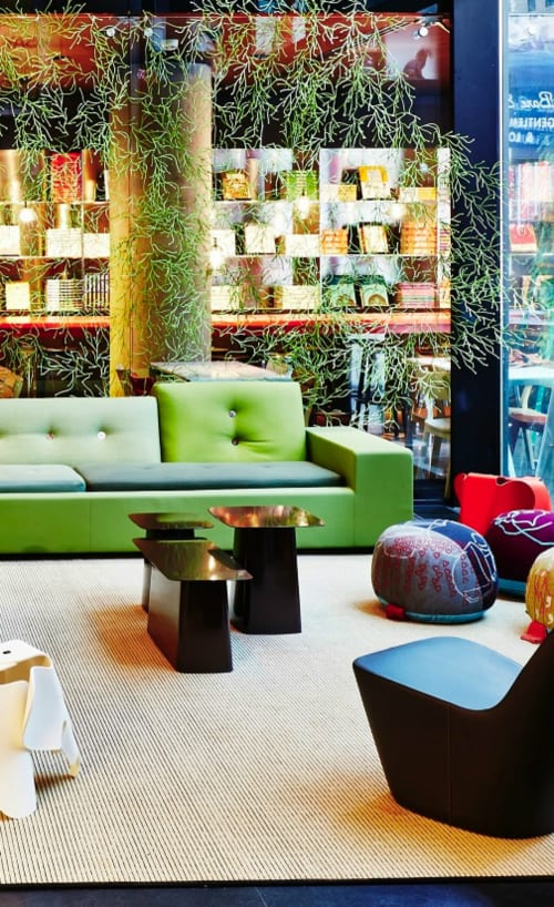 Tables by Ronan & Erwan Bouroullec Design at citizenM New York, New York - Metal Side Tables