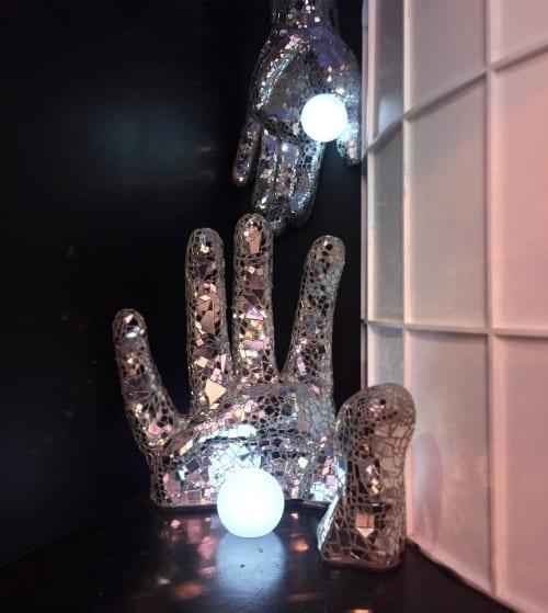 Sculptures by Brandin Hurley Designs seen at wndr museum, Chicago - Hand Sculpture