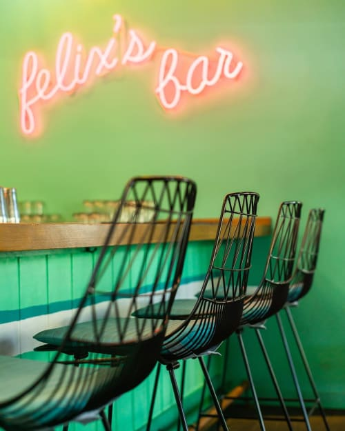 Chairs by Bend Goods seen at Tallula's, Santa Monica - Lucy Bar Stool