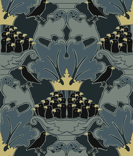 Four and Twenty - Wallpaper | Wallpaper by Charles Francis Annesley Voysey | The High Line Hotel in New York
