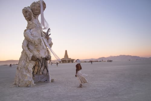 Sculptures by Tigre Bailando seen at Burning Man 2017 - The Solacii