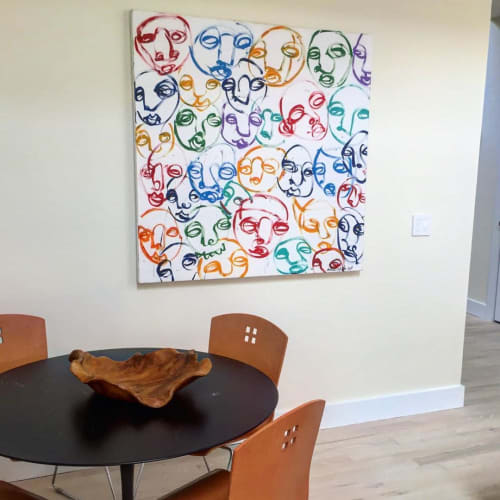 Paintings by Andrew Cotton Art 100% COTTON seen at Private Residence, Bridgehampton - Abstract Painting