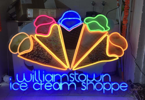 Lighting by Carla O'Brien seen at The Ice Cream Shoppe, Williamstown - Ice Cream Shoppe on Nelson Place Williamstown