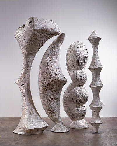 Sculptures by Ann Weber seen at Rapt Studio SF, San Francisco - Personages, Watch Over Me