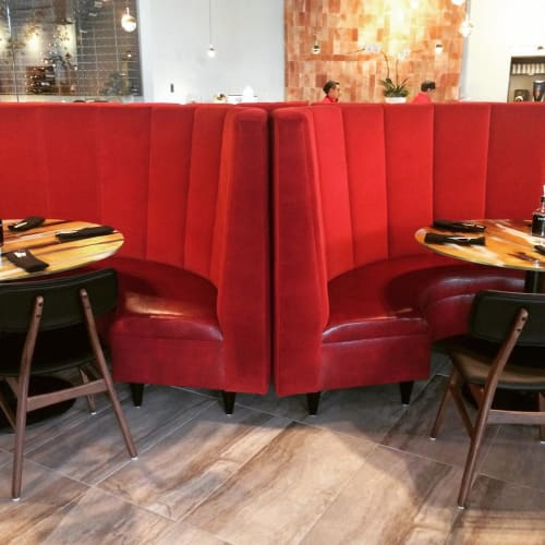 Couches & Sofas by SG Woodworks seen at Red Salt Chophouse and Sushi, Henrico - Upholstered Booth