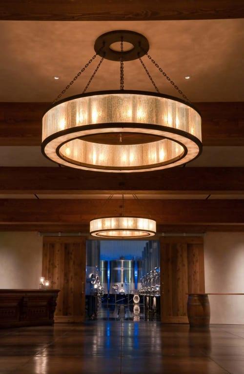 Chandeliers by McEwen Lighting Studio seen at Silver Oak Napa Valley, Oakville - Gear Suspension