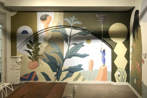Murals by Aaron Glasson seen at BAM Communications, San Diego - El Cortez Hotel