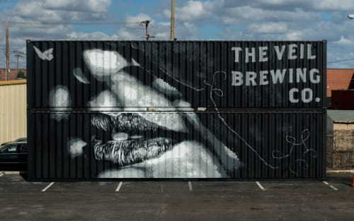 Murals by Nils Westergard seen at The Veil Brewing Co., Richmond - Veiled