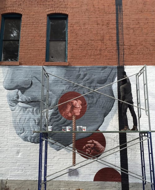 Street Murals by Travis Hetman seen at Leon Art Gallery, Denver - Leon