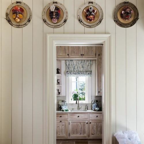 Wall Hangings by Christa Wilm seen at Private Residence, Palm Beach - Shell Art