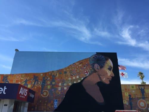 Murals by Francisco Letelier seen at American Red Cross, Santa Monica - Guardian Mural