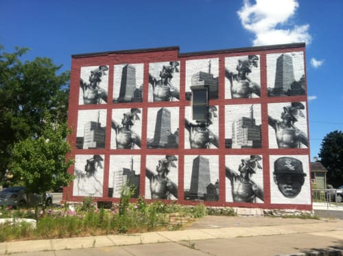 Street Murals by Gaia seen at Rochester, NY, Rochester - Commerce is Swifter than Culture
