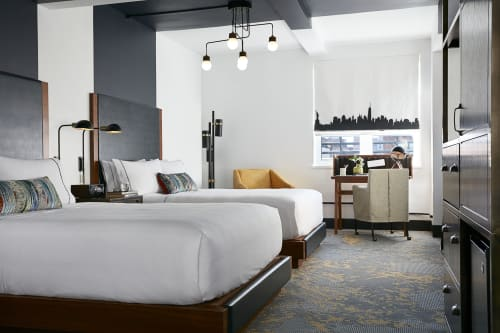 Curtains & Drapes by Ben Cowan at The Renwick Hotel New York City, Curio Collection by Hilton, New York - Skyline Curtain