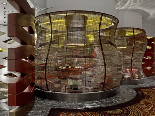 Furniture by Kenneth Cobonpue seen at Nobu Hotel, Caesar's Palace, Las Vegas, Nevada, USA, Las Vegas - Dining Gazebo