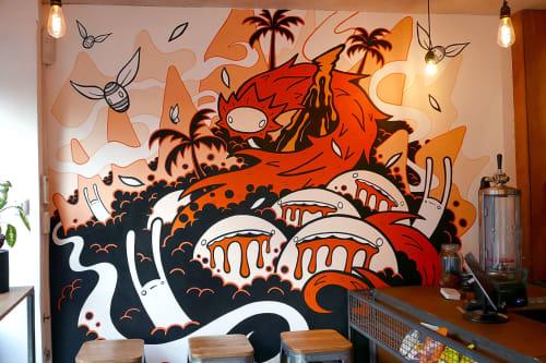 Murals by Choots seen at craftndraft, London - Mural