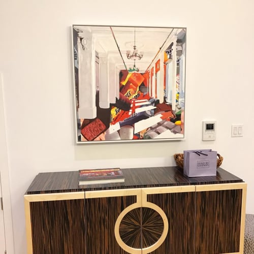 Paintings by Daryll Westly seen at Private Residence, New York - Interior with Ceiling