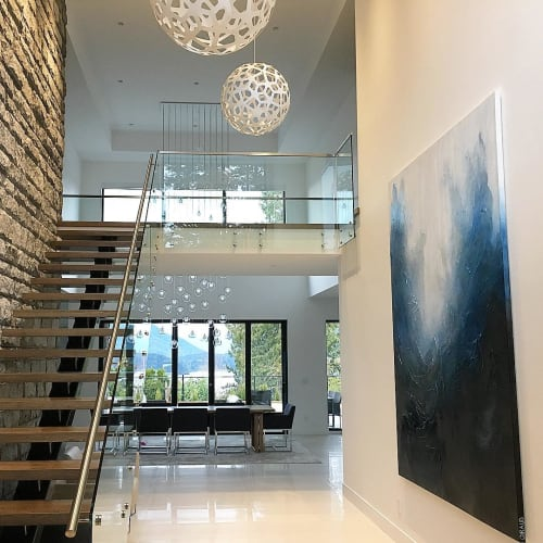 Paintings by Donna Giraud seen at Private Residence, West Vancouver - Abstract Painting