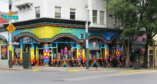 Murals by Xavi Panneton seen at Love on Haight, San Francisco - Love on Haight Mural