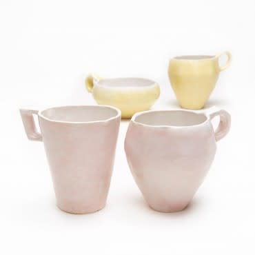 Tableware by Bjarni Sigurdsson seen at abcV, New York - Pink & Yellow Mugs